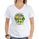 Quijada Family Crest Women's V-Neck T-Shirt