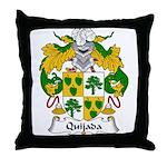 Quijada Family Crest Throw Pillow