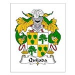 Quijada Family Crest Small Poster
