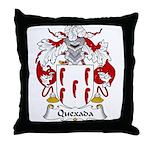 Quexada Family Crest Throw Pillow