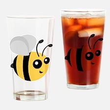 Cute Cartoon Bee Drinking Glass