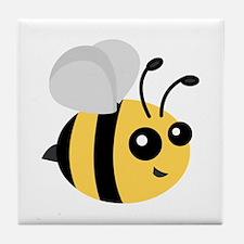 Cute Cartoon Bee Tile Coaster
