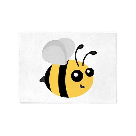 Cute Cartoon Bee 5u0027x7u0027Area Rug