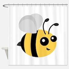 Cute Cartoon Bee Shower Curtain