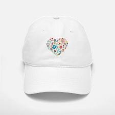 Cute Colorful Floral Heart Cap