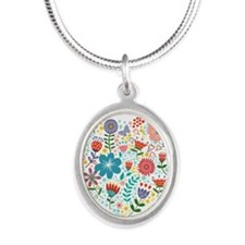 Cute Colorful Floral Heart Necklaces