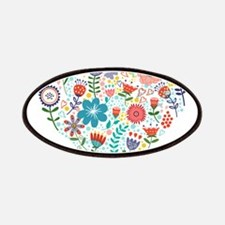 Cute Colorful Floral Heart Patch