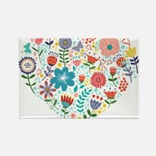 Cute Colorful Floral Heart Magnets