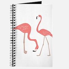 Cute Pink Flamingos Journal