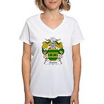 Queipo Family Crest Women's V-Neck T-Shirt