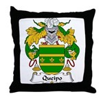 Queipo Family Crest Throw Pillow