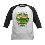 Queipo Family Crest Kids Baseball Jersey