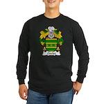 Queipo Family Crest Long Sleeve Dark T-Shirt