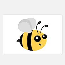 Cute Cartoon Bee Postcards (Package of 8)