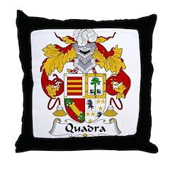 Quadra Family Crest Throw Pillow
