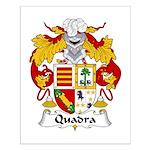 Quadra Family Crest Small Poster