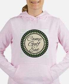 Camp Golf Eat main Women's Hooded Sweatshirt