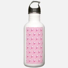 Pink Skull And Crossbo Water Bottle