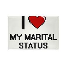 I Love My Marital Status Magnets