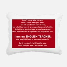 I will find you Punctuat Rectangular Canvas Pillow