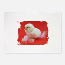 chicks in red 5'x7'Area Rug