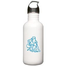 Sign Zodiak Aquarius Water Bottle