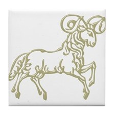 Sign Zodiak Aries Tile Coaster