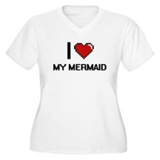 I Love My Mermaid Plus Size T-Shirt