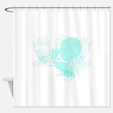 snowboard crest by asyrum Shower Curtain