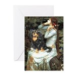 Ophelia & Cavalier (BT) Greeting Cards (Pk of 20)