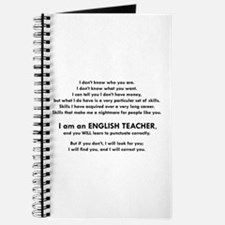 I will find you Punctuate Correctly Journal
