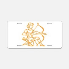 Sign Zodiak Sagittarius Aluminum License Plate
