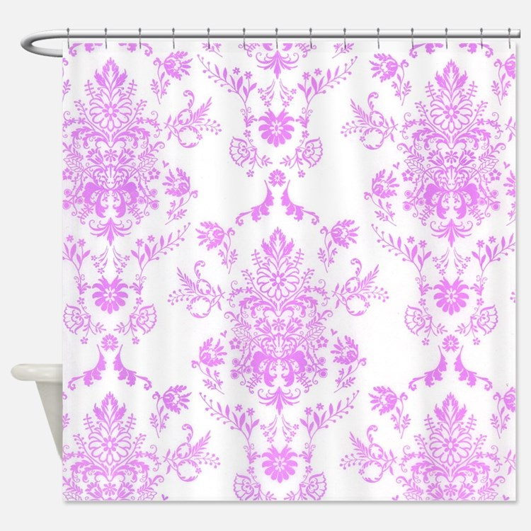 Purple Damask Shower Curtains Purple Damask Fabric Shower Curtain Liner
