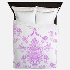 Purple Damask Queen Duvet