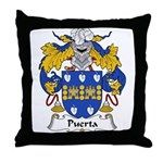 Puerta Family Crest Throw Pillow