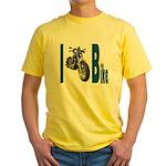 I Bike Yellow T-Shirt