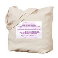 I will find you Write Correctly Tote Bag