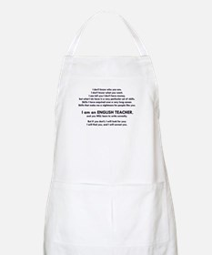 I will find you Write Correctly Apron