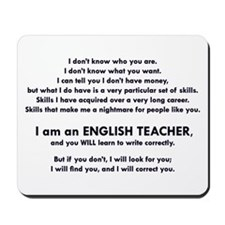 I will find you Write Correctly Mousepad