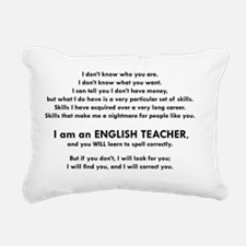 I will find you Spell Co Rectangular Canvas Pillow
