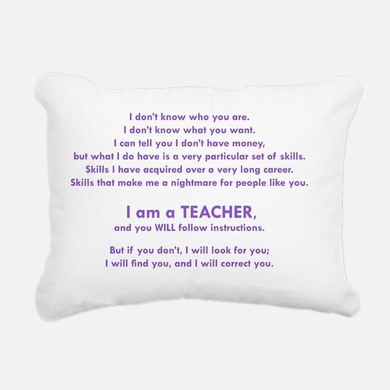 I will find you Follow I Rectangular Canvas Pillow