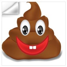 poo emoji Wall Decal