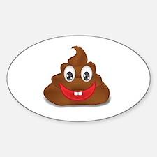 poo emoji Sticker (Oval)