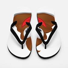 poo emoji Flip Flops