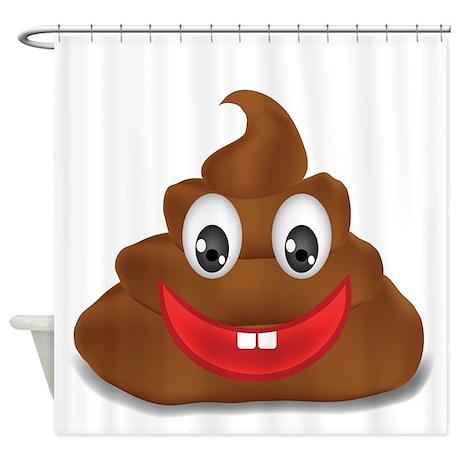 poo emoji Shower Curtain by Admin_CP13506533