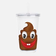 poo emoji Acrylic Double-wall Tumbler