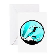ski jumper Greeting Cards
