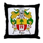 Pozo Family Crest Throw Pillow