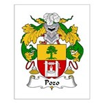 Pozo Family Crest Small Poster