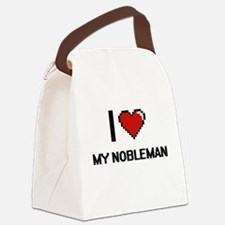 I Love My Nobleman Canvas Lunch Bag